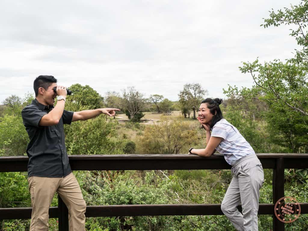wearing safari clothing at elephant plains