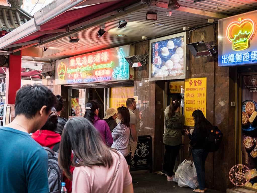 emperor's cream puffs in sydney chinatown
