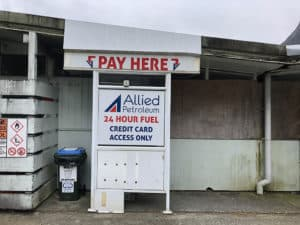 gas station at milford sound
