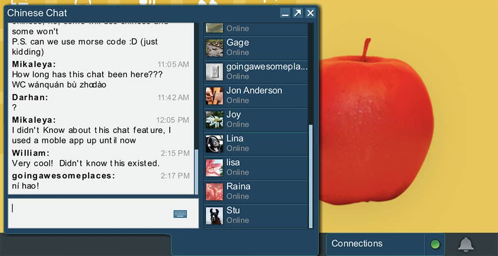 rosetta stone platform chat tool
