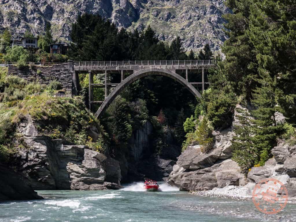 shotover jet queenstown under the bridge
