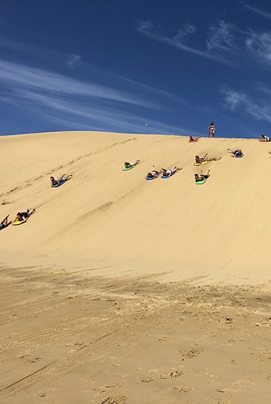 sandboarding in opononi