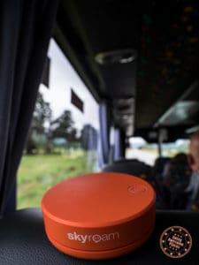 using skyroam on flying kiwi adventure bus tour new zealand
