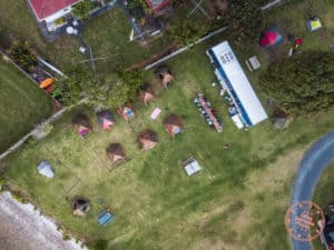 aerial view flying kiwi campsite