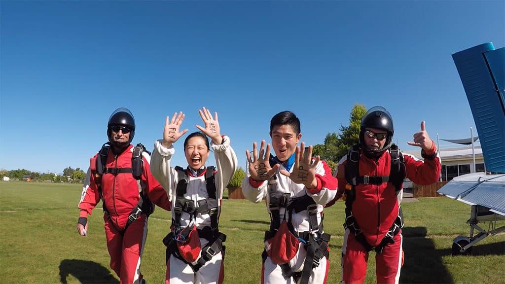 boarding plane skydive abel tasman