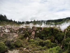 craters of the moon geothermal activity steam in 3 week new zealand itinerary
