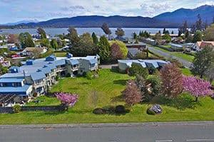 explorer motel and apartments te anau aerial photo