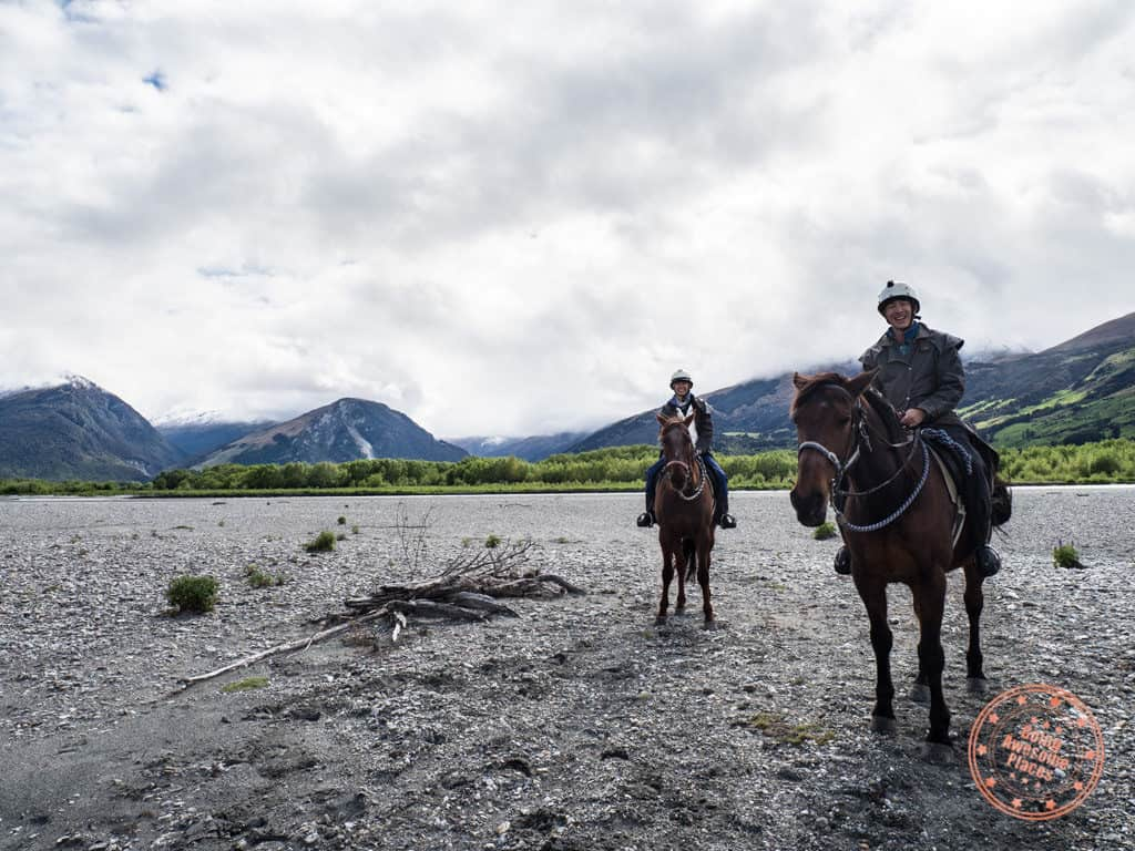 glenorchy dart river adventure horseback riding rees river itinerary