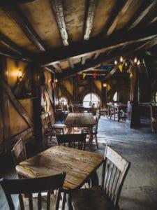 inside green dragon pub and inn of hobbiton new zealand