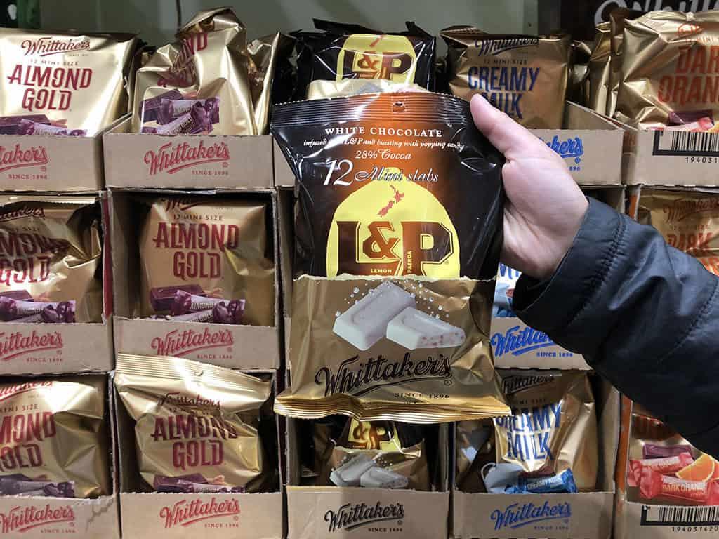 l&p whittaker's chocolate minislabs package souvenir