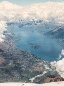 scenic descent into queenstown from the plane in new zealand itinerary