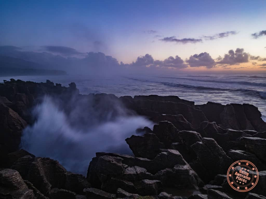 pancake rocks sunset in new zealand travel guide