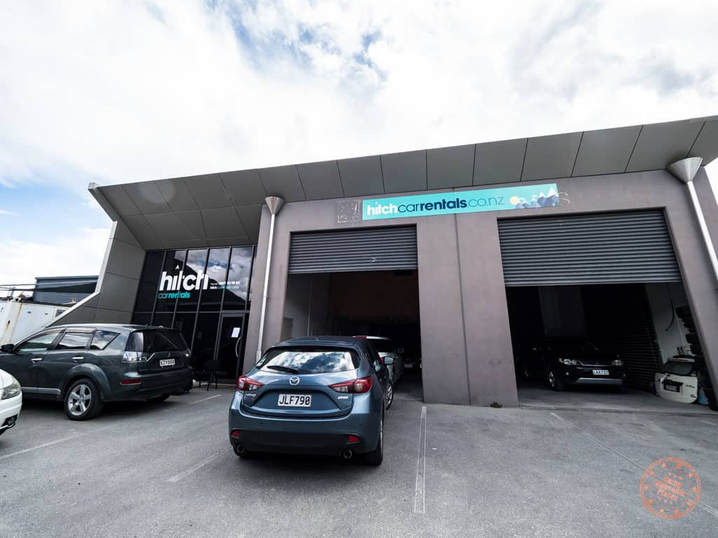 picking up car rental from hitch in queenstown new zealand