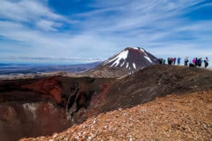 red crater summit mt ngauruhoe