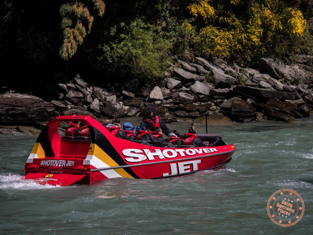 shotover jet boat ride in queenstown new zealand itinerary