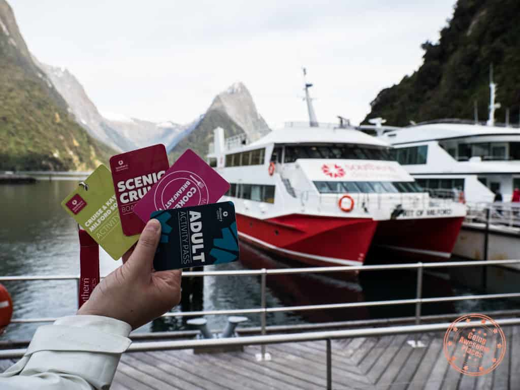 sotuhern discoveries milford sound cruise pass cards itinerary