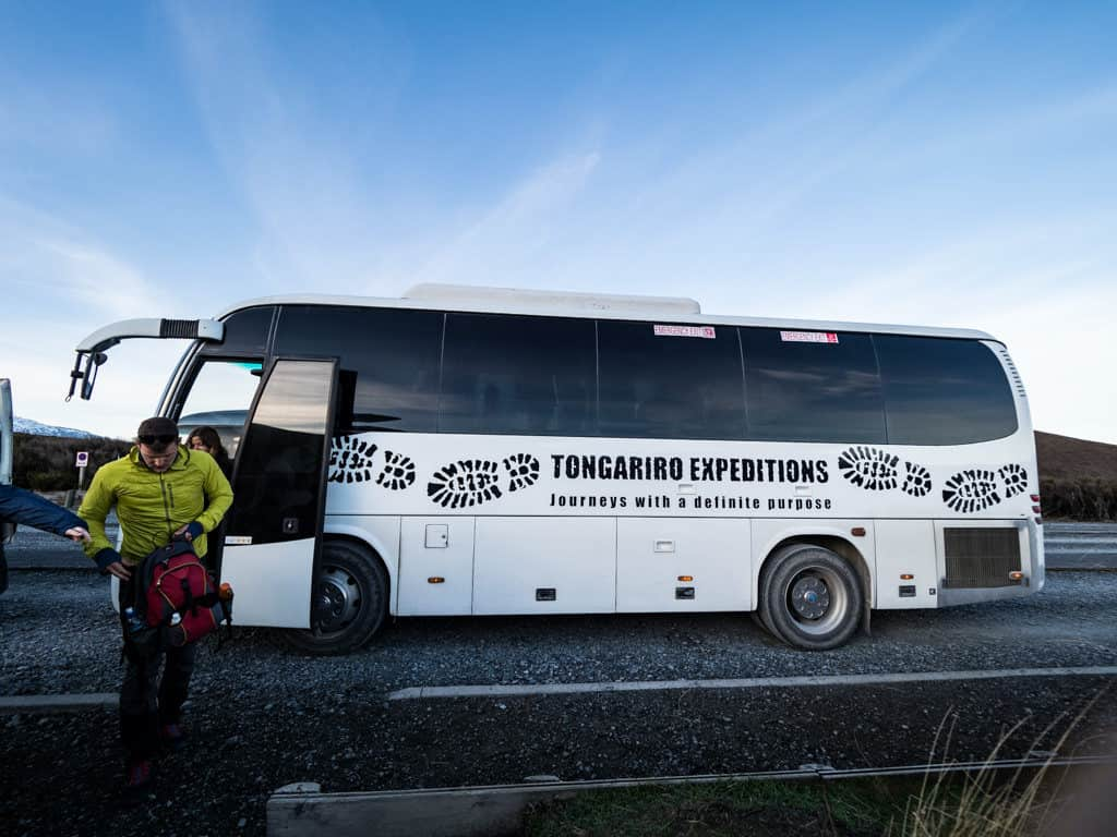 tongariro expeditions bus drop off in new zealand itinerary