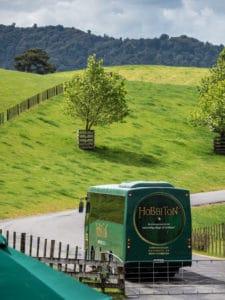 tour bus that takes you into hobbiton