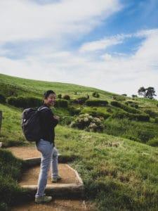 touring hobbiton walking path