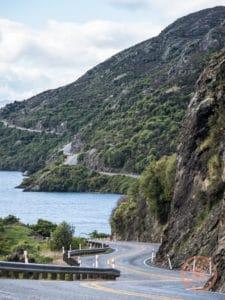 winding road as part of drive towards te anau nz