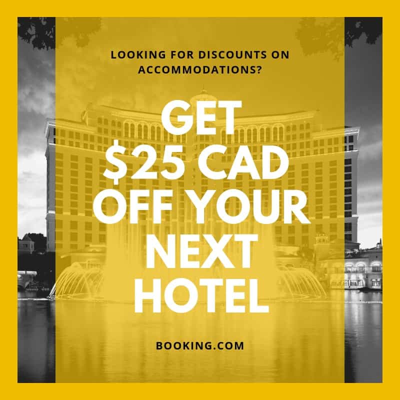 booking 25 cad off referral discount promotion for hotels