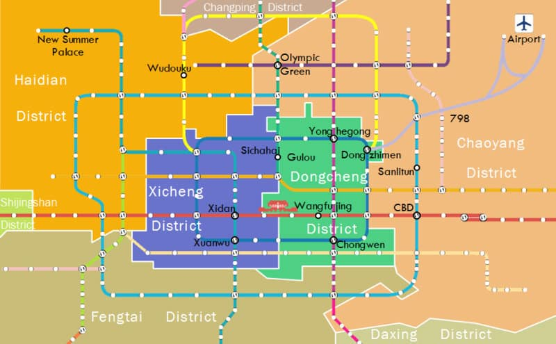 beijing neighbourhood district map