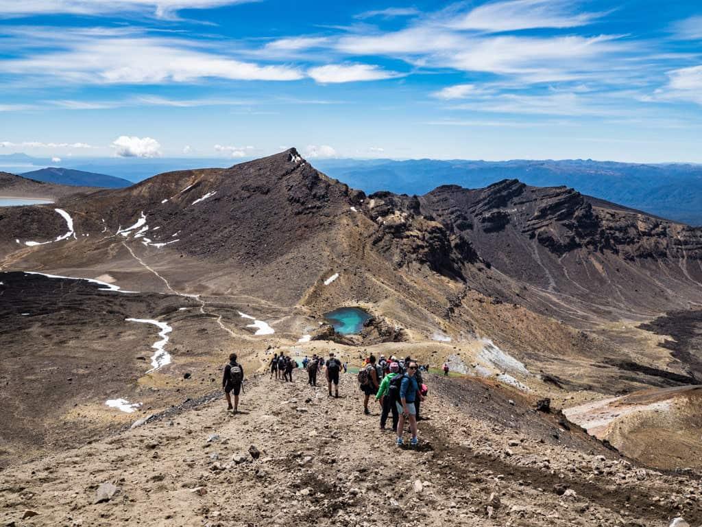 downhill scramble to emerald lakes on tongariro alpine crossing section 5