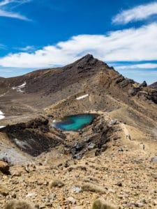 exploring emerald lakes in tongariro