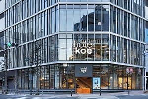 Recommended hotel koe tokyo in the Harajuku neighborhood