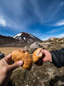 tongariro crossing croissant sandwich for lunch