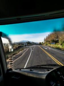 tongariro expeditions shuttle bus ride
