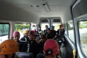 van ride to ruakuri cave black water rafting nz