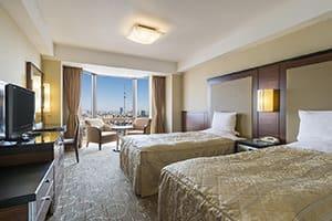 beautiful views from asakusa view hotel in tokyo