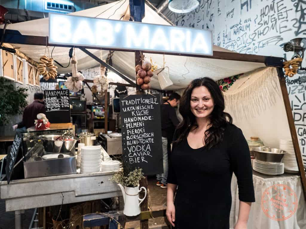 where to eat at markthalle acht bab'maria ukranian food