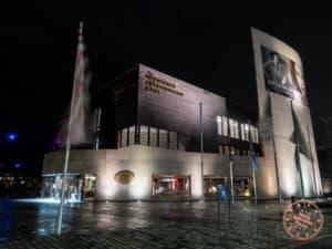 bremerhaven german emigration center at night