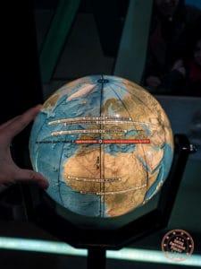 climate museum 8 degree west longitude globe path