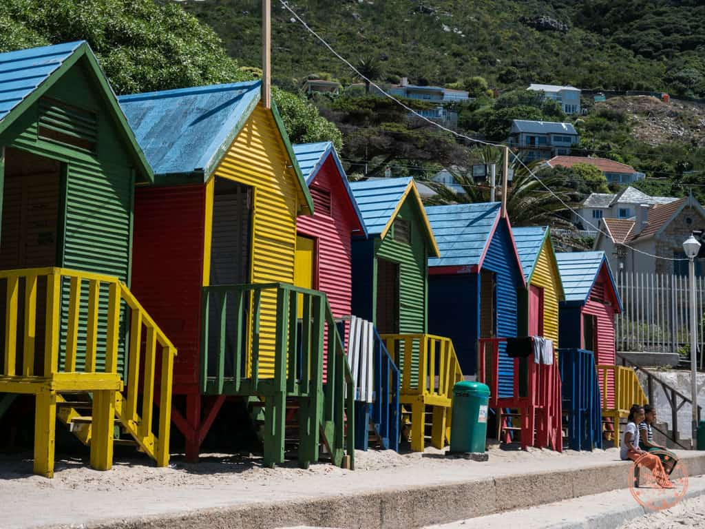colourful houses st james beach in 1 week cape town itinerary