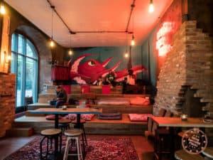 craft bier bar lounge area in bremen germany