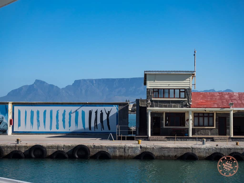 ferry docking at robben island in itinerary