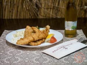 fresh fish and chips at fiedlers raucherdiele