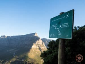 recommended or chained route on lions head
