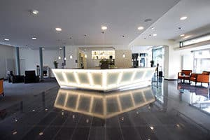 nordsee lobby reception hotel in bremerhaven