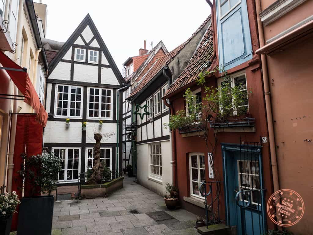 things to see in bremen schnoor quarter