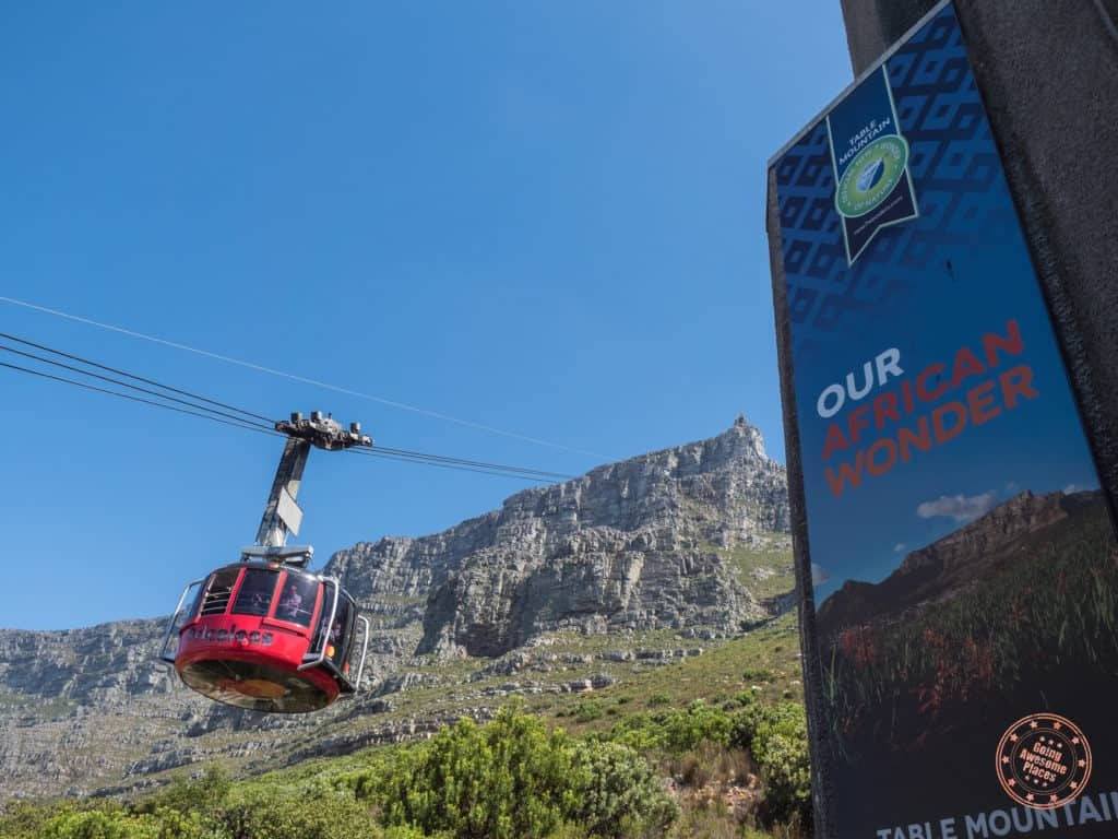 7 days in cape town table mountain aerial cableway