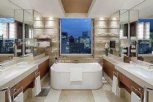 the peninsula tokyo marble bathroom