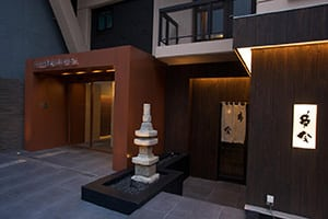 entrance to the ueno tougeneya hotel in tokyo