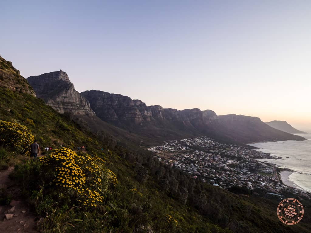 best time go to south africa - lions head view of table mountain