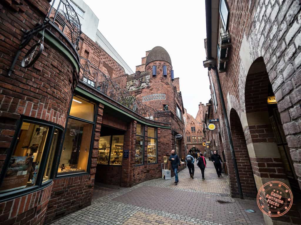 bottcherstrasse historic street in bremen things to do 48 hours
