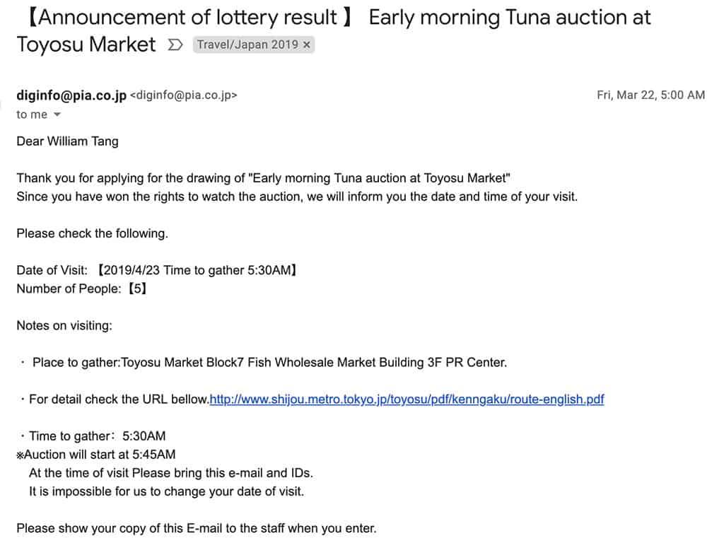 toyosu fish market tuna auction bid results email