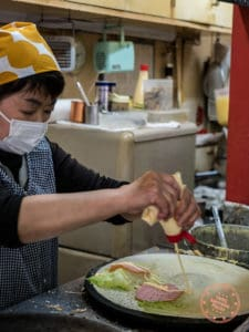 crepe house circus ham and lettuce crepe in kichijoji food